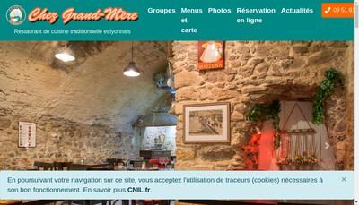 Site internet de Chez Grand-Mere