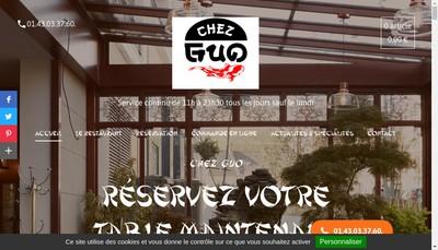Site internet de Chez Guo