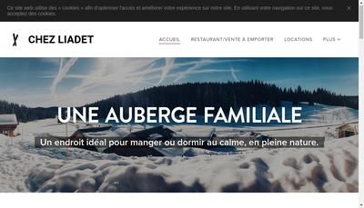 Site internet de Chez Liadet