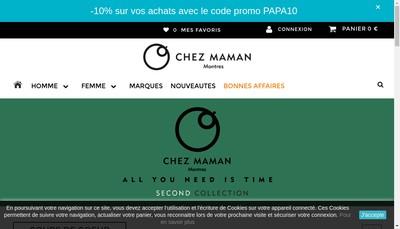 Site internet de Chez Maman