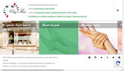 Site internet de Chez Thao Salon de Beaute
