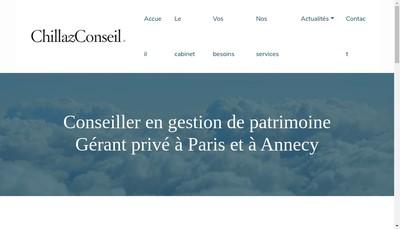 Site internet de Chillaz Conseil