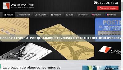Site internet de Chimicolor