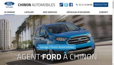 Site internet de Chinon Automobiles
