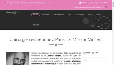 Site internet de SELARL du Docteur Vincent Masson