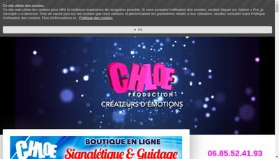Site internet de Chloe Production