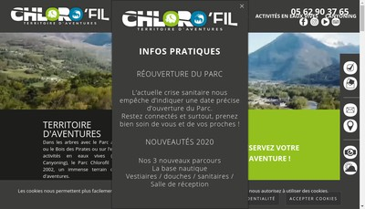 Site internet de Chloro'Fil Parc Acrobatique Forestier