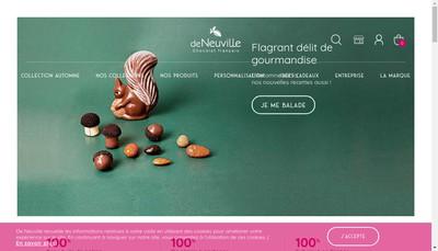 Site internet de Chocolats de Neuville