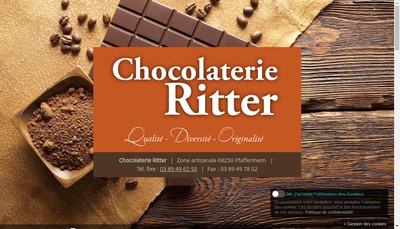 Site internet de Chocolaterie Joseph Ritter