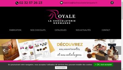 Site internet de La Royale Normande Chocolaterie