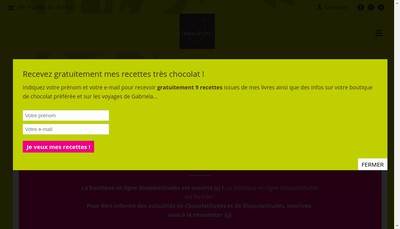 Site internet de Chocolatitudes