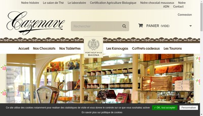 Site internet de Chocolat Cazenave