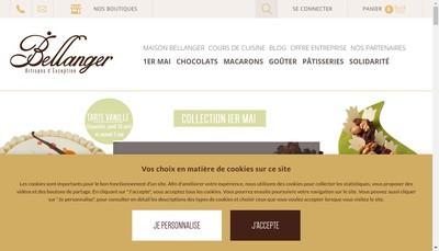 Site internet de Chocolaterie Bellanger