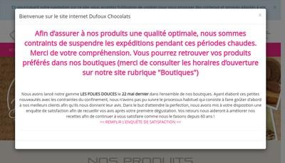 Site internet de Les Chocolats Bernard Dufoux