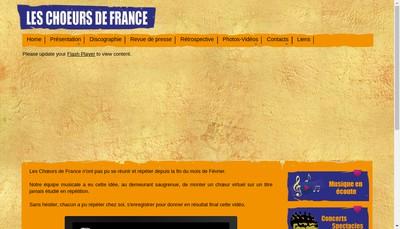 Site internet de France Choeurs Concept