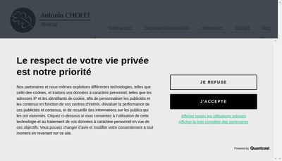 Site internet de Antonin Cholet