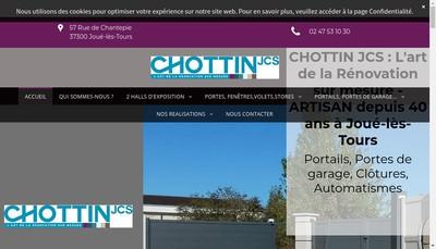 Site internet de Chottin Jcs