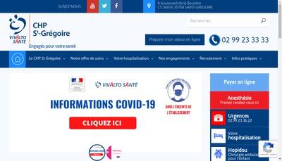 Site internet de Clinique Saint Vincent