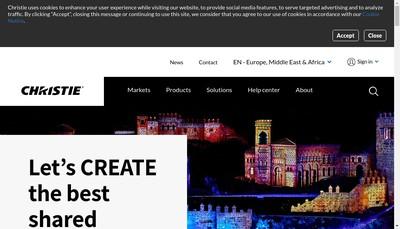 Site internet de Christie Digital Systems Europe