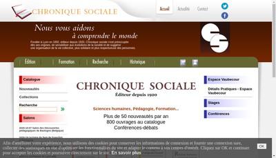 Site internet de Chronique Sociale