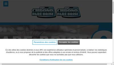 Site internet de Chrono Pare Brise Developpement
