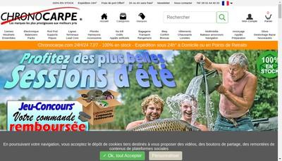 Site internet de Chrono Peche