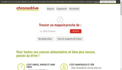 Site internet de Chronodrive