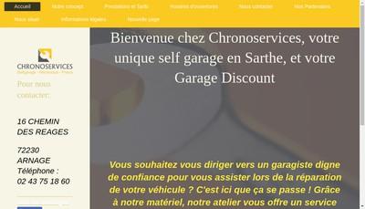 Site internet de Chronoservices