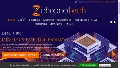 Site internet de Chronotech