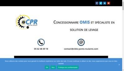 Site internet de Cible Ponts Roulants
