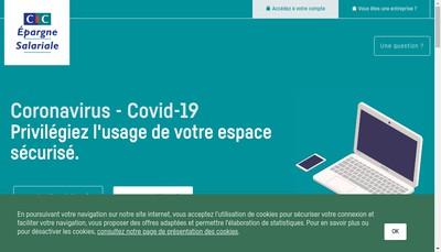 Site internet de Credit Mutuel Epargne Salariale