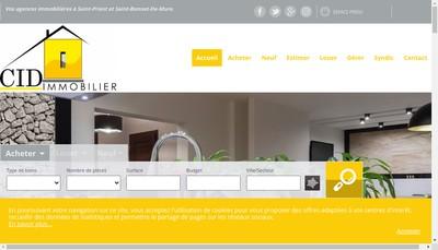 Site internet de Cabinet Immobilier Diffusion