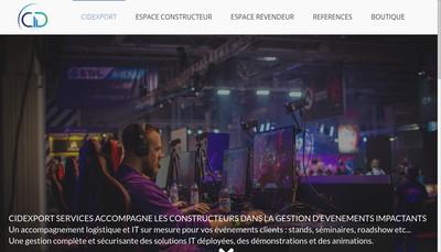 Site internet de Cidexport