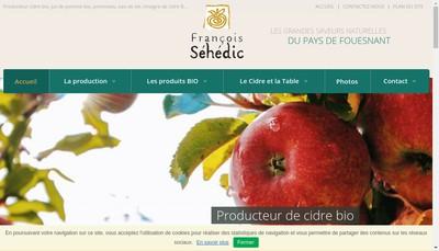 Site internet de Cidre Sehedic