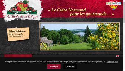 Site internet de Cidrerie de la Brique