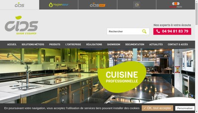 Site internet de Azur Concept Blanchisserie