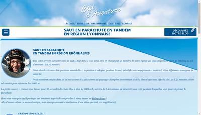 Site internet de Ciel d'Aventure
