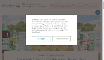 Site internet de Ciel d'Azur Labs