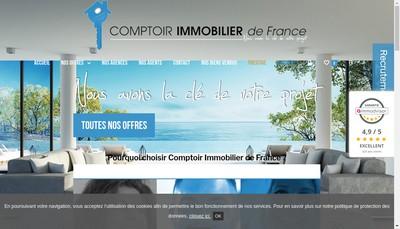 Site internet de Comptoir Immobilier de France
