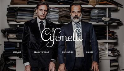 Site internet de Cifonelli International