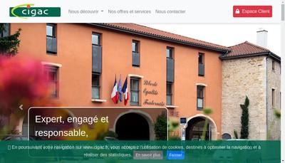 Site internet de Centre Interregional de Gestion d'Assurances Collectives