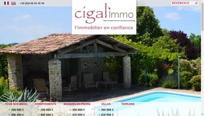 Site internet de Cigal Immo