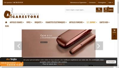 Site internet de Cigarestore