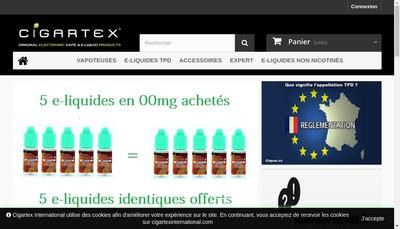 Site internet de Cigartex