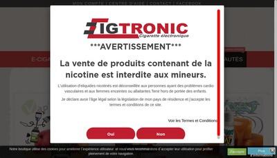 Site internet de Cigtronic, Culturfun, Degrifprix, Vap'Fusion