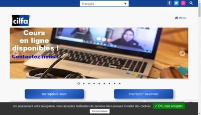 Site internet de Cilfa