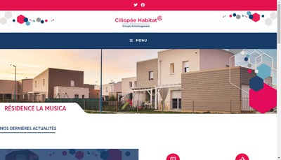 Site internet de Groupe Ciliopee