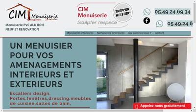 Site internet de Cim Menuiserie