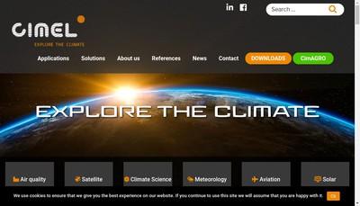 Site internet de Cimel Electronique