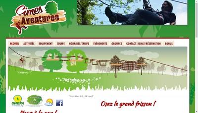 Site internet de Parc Aventure